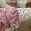 Thumbnail: Blusa estampada com punho em renda rosa
