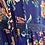 Thumbnail: Vestido seda folhos azulão