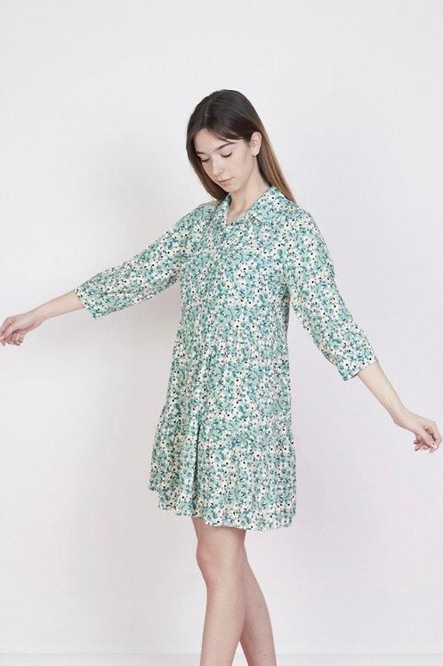 Vestido florzinhas verde