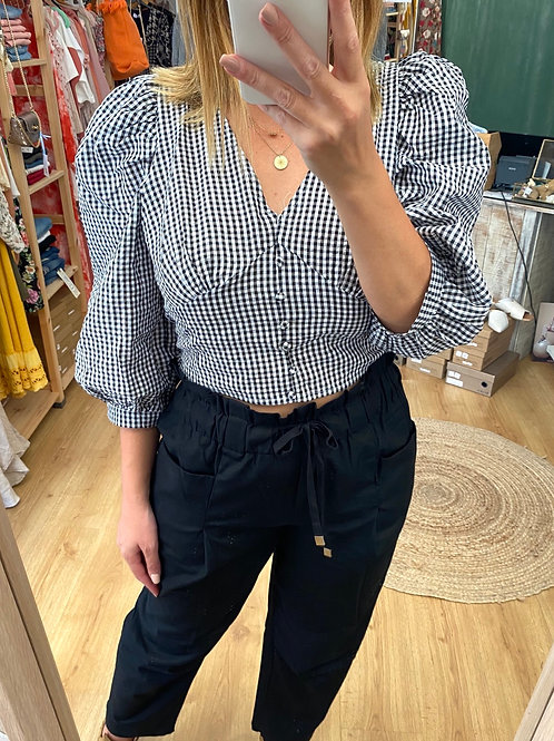 Blusa estampa Vichy
