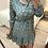 Thumbnail: Vestido estampado floral com cinto turquesa