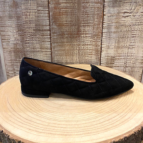 Sapatos camurça pretos acolchoados Ruika