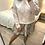 Thumbnail: Camisola de malha berloques e gola com renda rosa