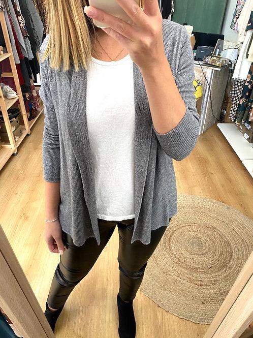 Casaco liso + top cinza