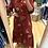 Thumbnail: Vestido floral vermelho Vintage Bazaar