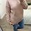 Thumbnail: Camisola de malha estrela relevo rosa