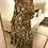 Thumbnail: Vestido comprido abstracto beje Vintage Bazaar