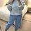 Thumbnail: Camisola de malha pom-pons celeste