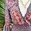Thumbnail: Vestido seda manga boca de sino cinza