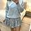 Thumbnail: Camisola de malha berloques e gola com renda azul