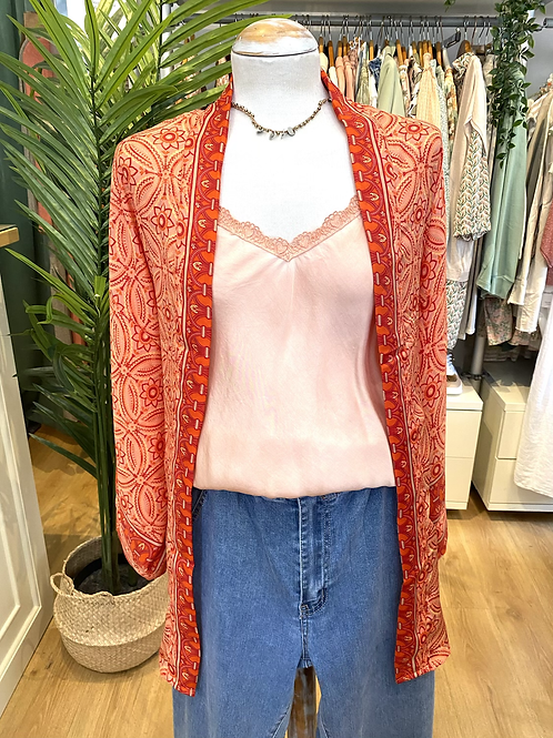 Kimono seda laranja