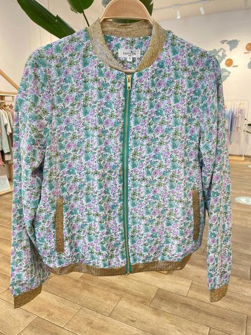 Bomber jacket flores água