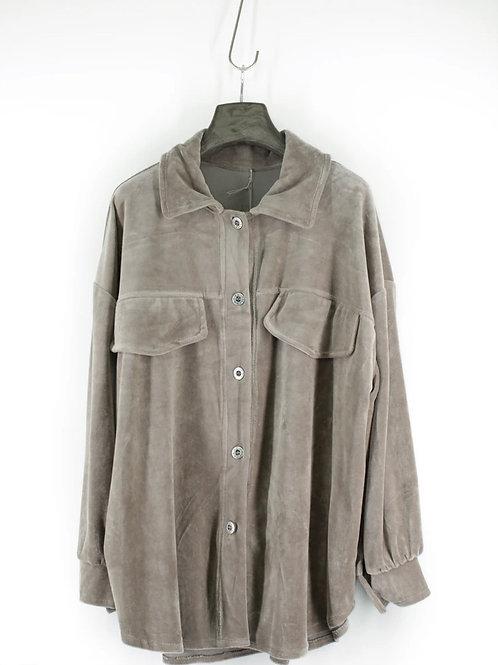 Casaco/camisa aveludado beje