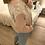 Thumbnail: Camisola de malha com gola rosa