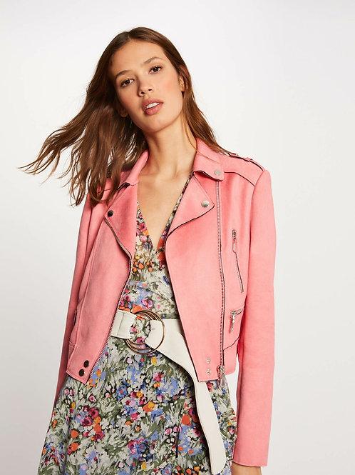 Blusão pele pêssego rosa Morgan