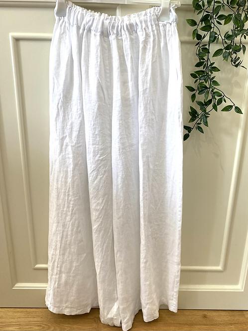 Calça pantalona linho branco