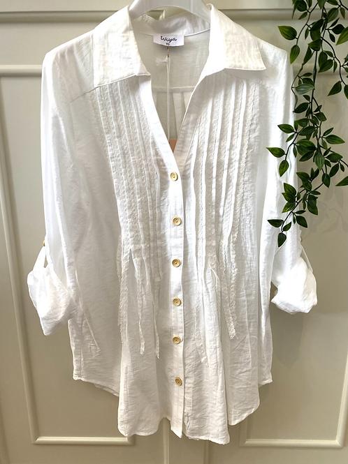 Camisa/tunica com rendas