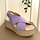 Thumbnail: Sandália camurça cunha lavanda Ruika