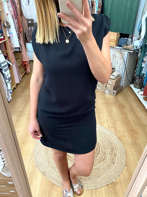 Vestido liso preto