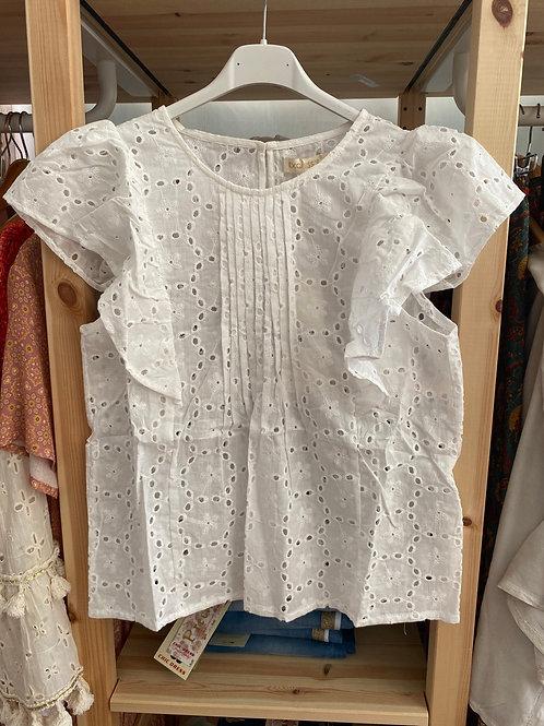 Blusa branca bordado inglês