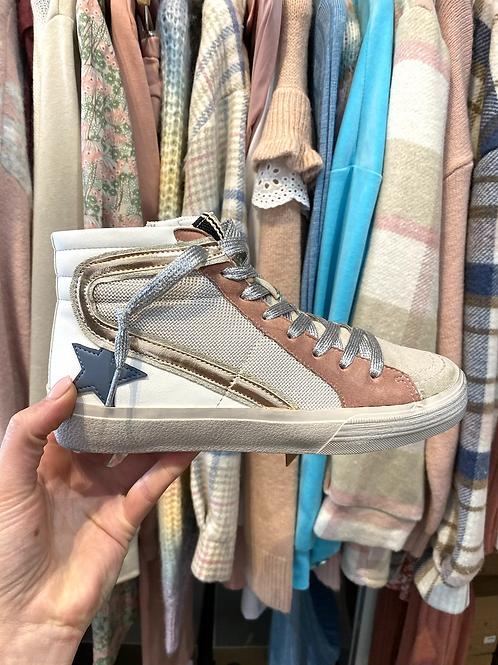 Sapatilha bota estrela rosa/azul