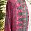 Thumbnail: Kimono comprido seda fúcsia/verde