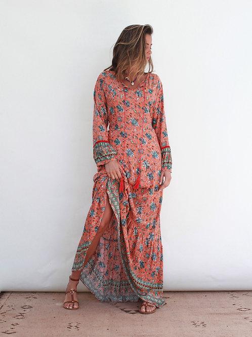 Vestido comprido Boho Vintage Bazaar