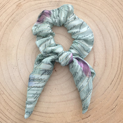 Elástico/lenço para cabelo estampa verde