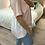 Thumbnail: Sweat manga curta bi-materiar rosa