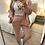 Thumbnail: Conjunto de algodão com rendinha rosa