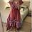 Thumbnail: Vestido seda assimétrico vermelho