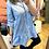 Thumbnail: Vestido/camisa folhos celeste