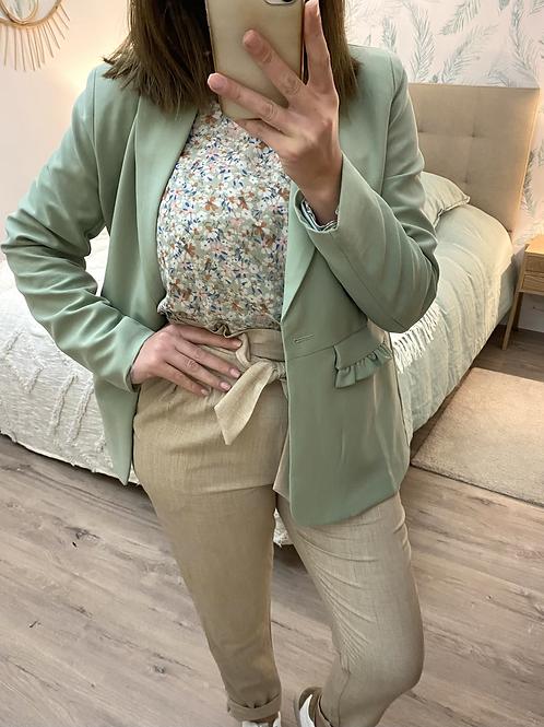 Blazer verde com folhinho bolso