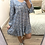 Thumbnail: Vestido gola floral print azul