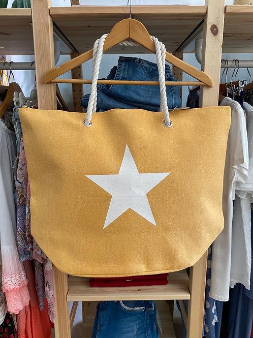 Saco de praia estrela amarelo