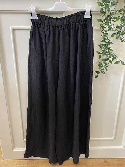 Calça pantalona linho preto