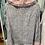 Thumbnail: Camisa estampada gola baby preto/rosa