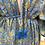 Thumbnail: Vestido seda manga larga azul