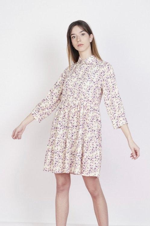 Vestido florzinhas lilás