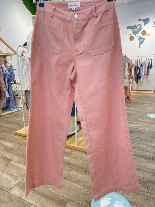 Calças Wide leg rosa