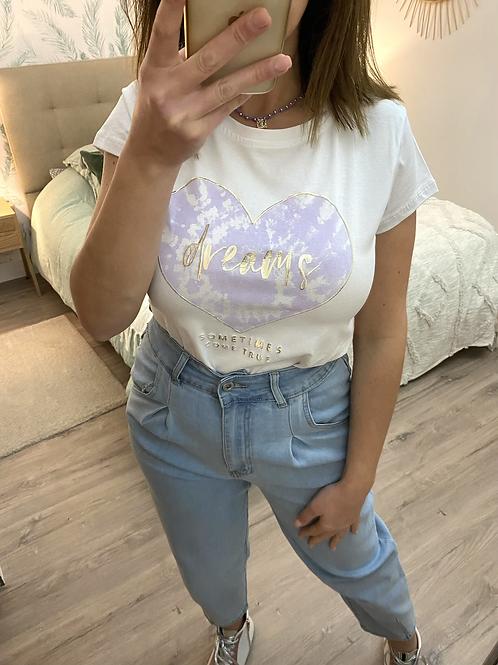 T-shirt dreams lilás