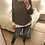 Thumbnail: Camisola de malha estrelinhas cinza