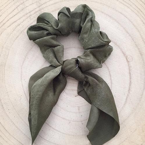 Elástico/lenço para cabelo liso verde