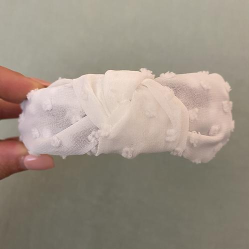 Bandolete relevo branco