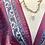 Thumbnail: Vestido seda manga larga rosa/azul