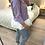 Thumbnail: Sweat de capuz riscas com folhos lilás