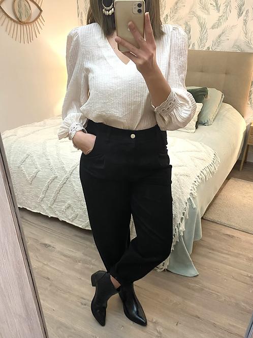 Calças slouchy sarja preto