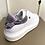 Thumbnail: Ténis brancos pele com detalhe lilás  Ruika