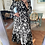 Thumbnail: Vestido comprido abstracto preto Vintage Bazaar