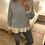 Thumbnail: Camisola de malha entrançada azul